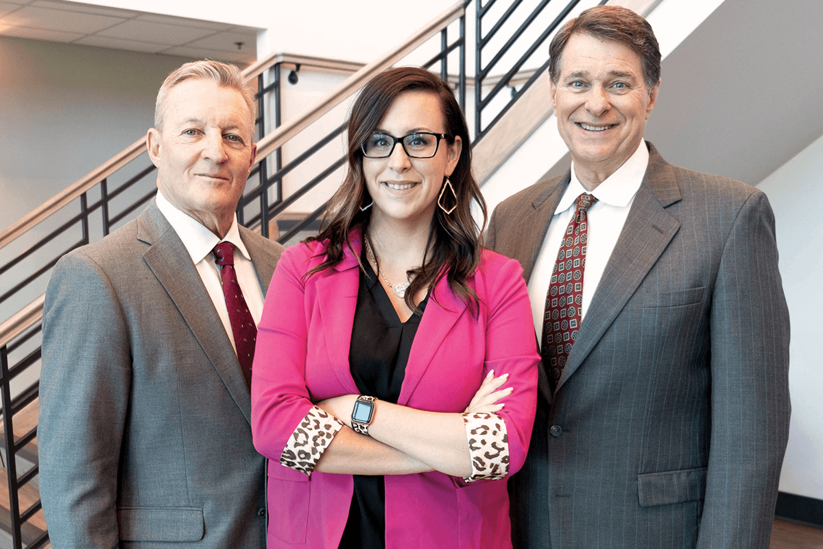 Broker/Owner Allen Crumbley, Broker/Owner Dewey Mitchell, and President Residential Division Casey Bryan