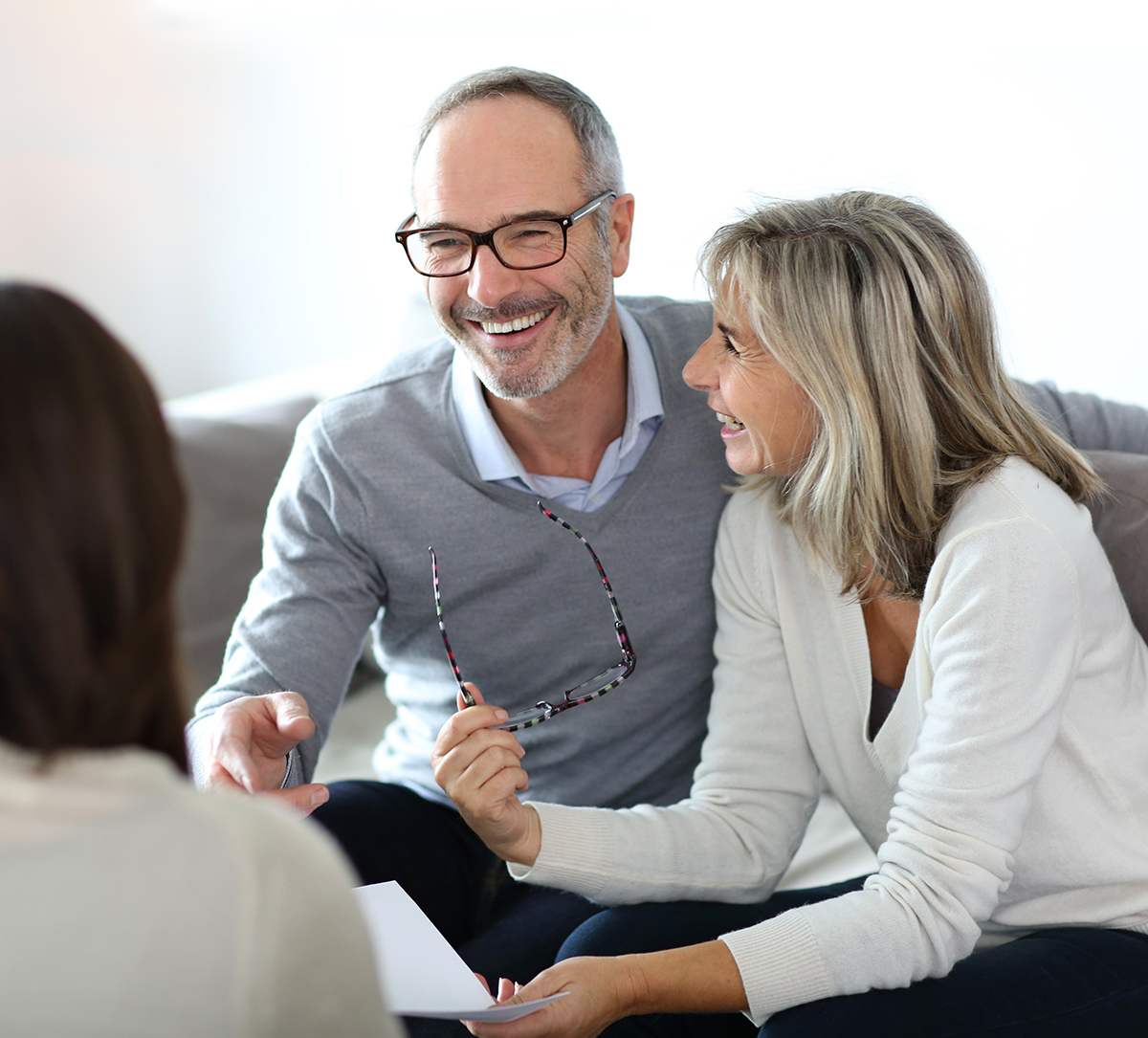 couple meeting with a mortgage loan officer