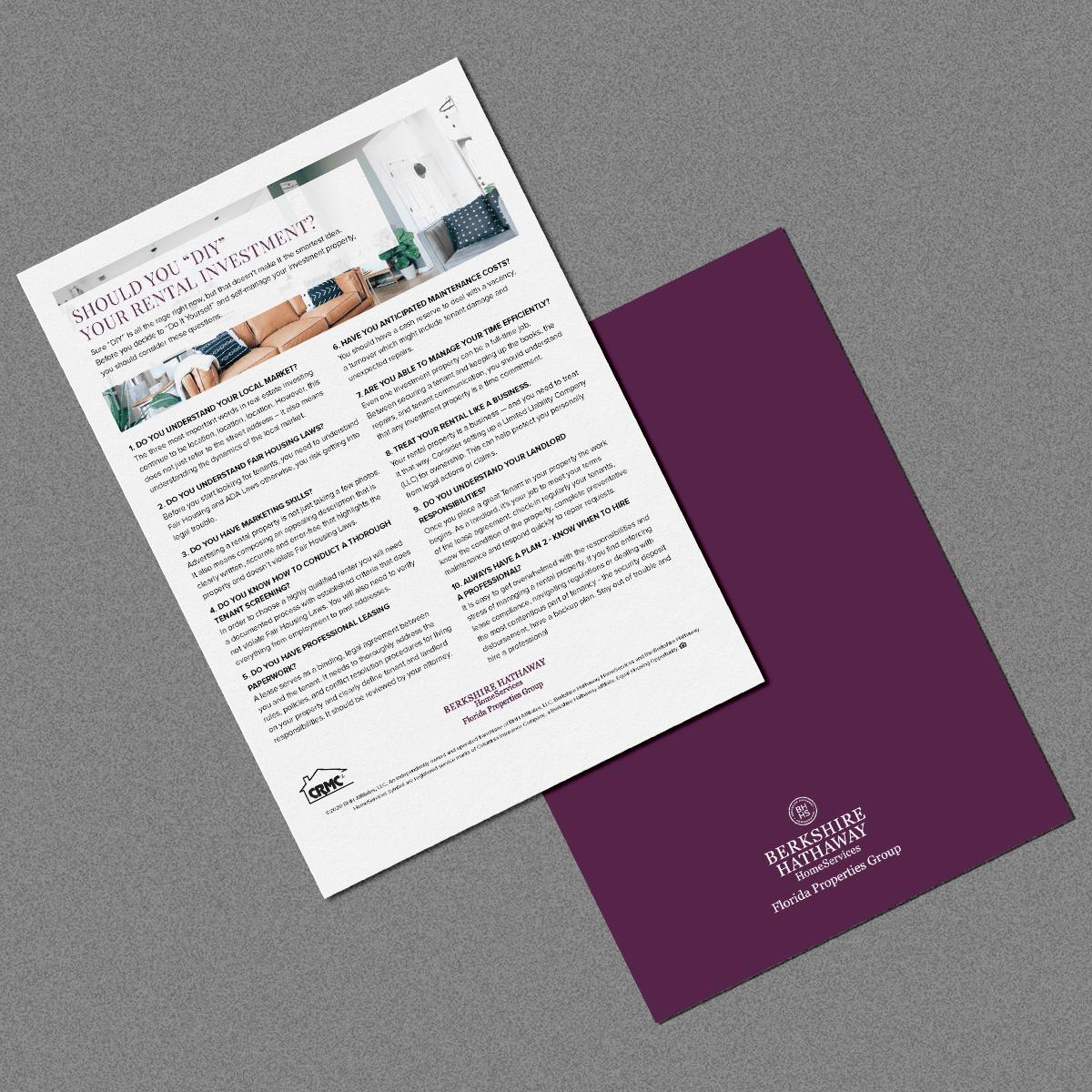 property management DIY flyer preview