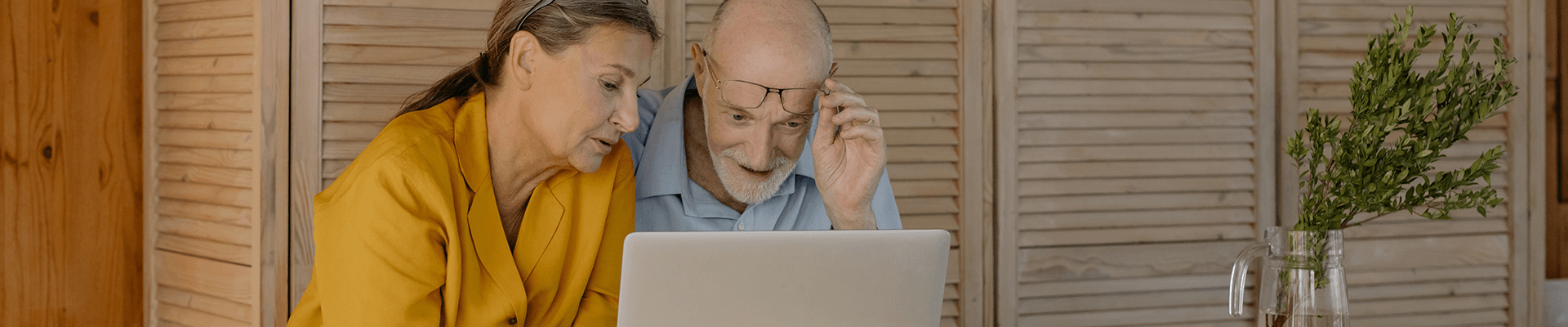 home owners looking at real estate website on laptop
